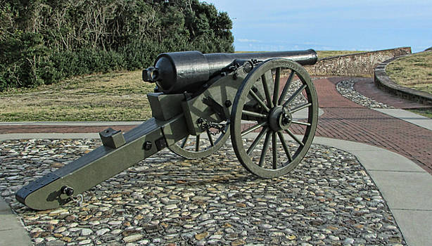 Fort Macon Cannon by Victor Montgomery