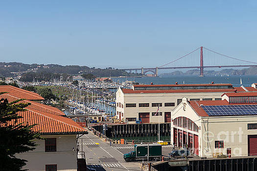 Wingsdomain Art and Photography - Fort Mason San Francisco California with Golden Gate Bridge in the Background DSC3159