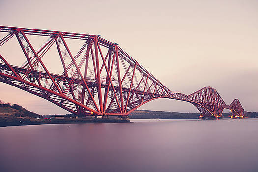 Forth Bridge Evening Light by Ray Devlin