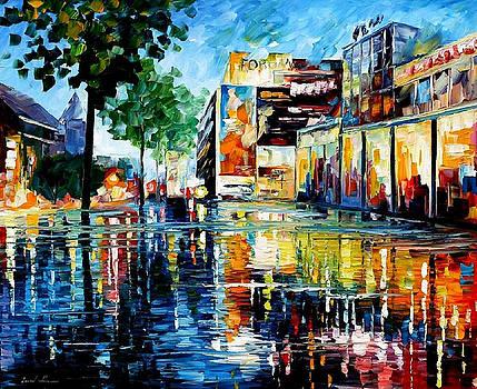 Forum - PALETTE KNIFE Oil Painting On Canvas By Leonid Afremov by Leonid Afremov
