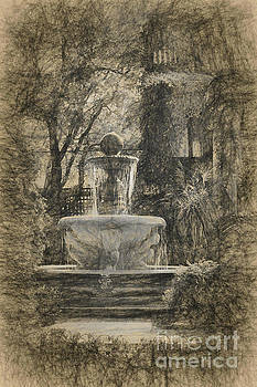 Fountain in the old Park by Vladimir Sidoropolev