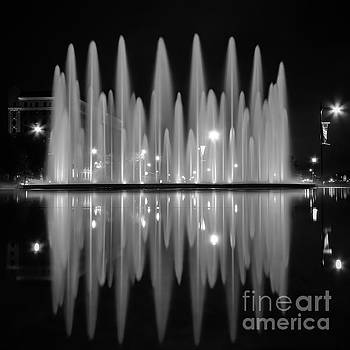 Fountain Reflections by Lisa Plymell