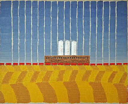 Four Grain Silos by Jesse Jackson Brown