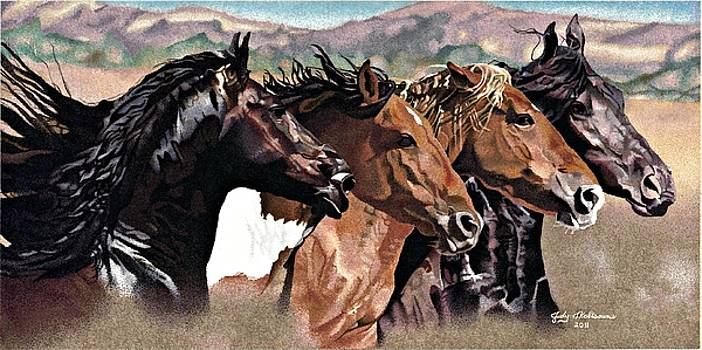 Four Horses by Judy Skaltsounis