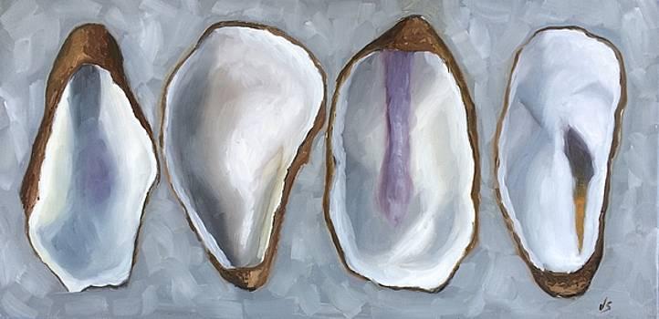 Four Oyster Shells  by Velma Serrano