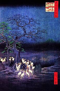 Ando Hiroshige - Fox Fires