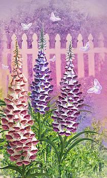 Foxgloves 'n Butterflies by Lois Mountz