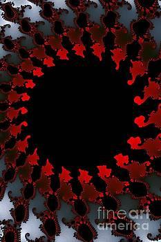 Fractal Red Black White by Henrik Lehnerer