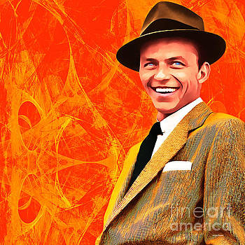 Wingsdomain Art and Photography - Frank Sinatra Old Blue Eyes 20160922 square
