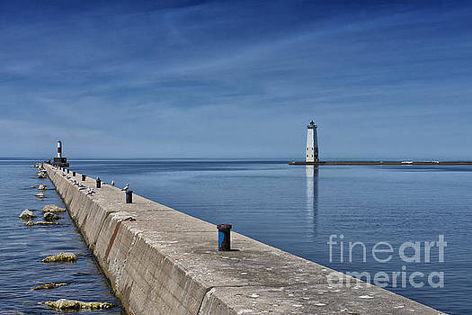 Frankfort North Breakwater Lighthouse Michigan by Brian Mollenkopf