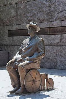 Franklin D. Roosevelt statue  by Patricia Hofmeester