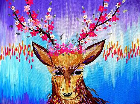 Free Spirited Deer by Cathy Jacobs