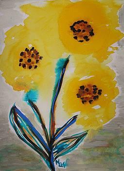 Freeform Sunflower by Mary Carol Williams