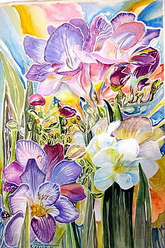 Freesias  by Therese AbouNader