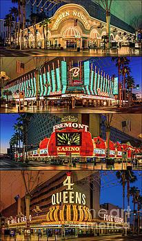 Fremont Street 4 Casinos by Eric Evans