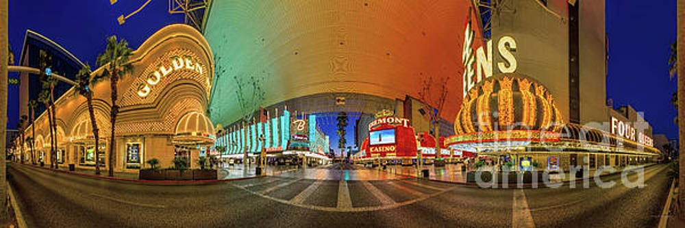 Fremont Street Experience Panorama 3 to 1 Aspect Ratio by Aloha Art
