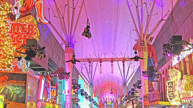 Fremont  Street  Flyers  Las  Vegas by Carl Deaville