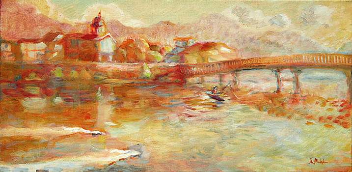French Broad River Marshall NC by Lisa Blackshear
