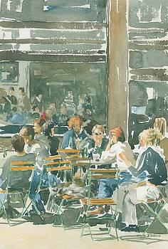 French cafe scene  by Ian Osborne