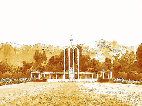 French Huguenot Monument in Franschhoek  by Jan Hattingh