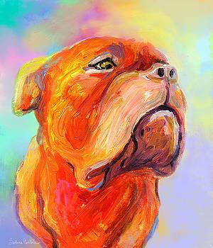 Svetlana Novikova - French Mastiff Bordeaux dog painting print