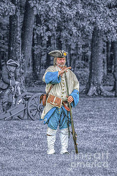 Randy Steele - French Soldier with Musket Blue