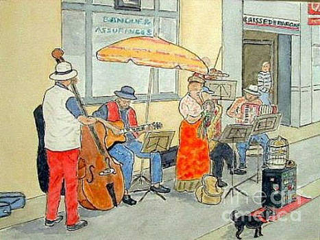 French Street Musicians by Peter Farrow
