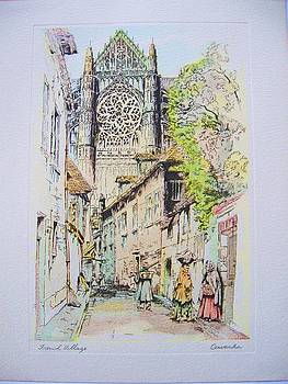 Works on paper - French Village