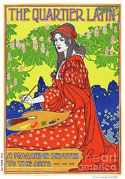 French Vintage Magazine Poster Restored by Carsten Reisinger