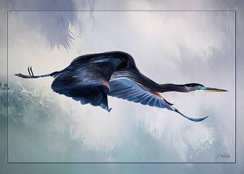 Fresh Beginnings - Heron Art by Jordan Blackstone
