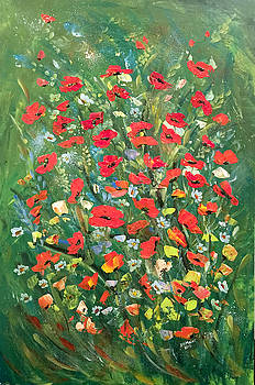 Fresh Poppies From The Garden by Dorothy Maier