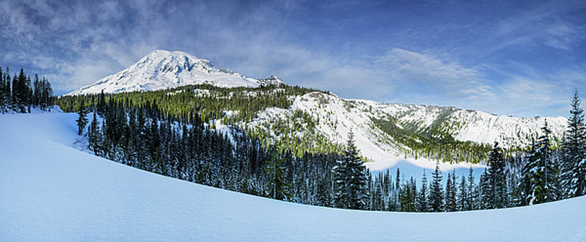 Fresh Snow at Mount Rainier by Dan Mihai