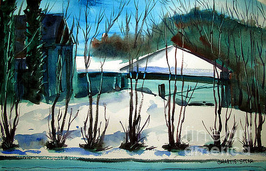 Fresh Snow double matted by Charlie Spear