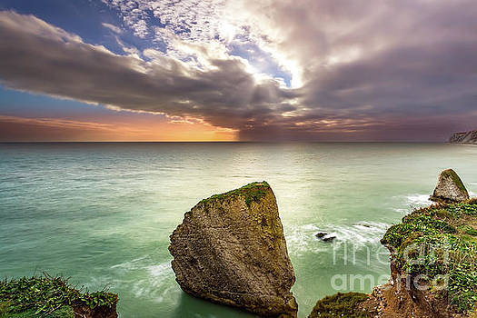 Freshwater Bay Sunset by English Landscapes