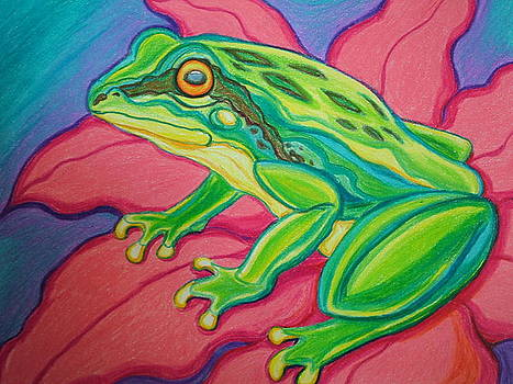 Nick Gustafson - Frog on flower