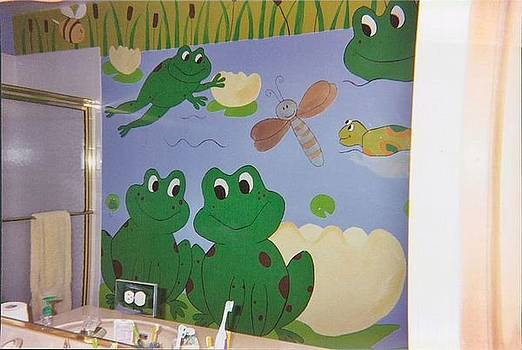 Anna Villarreal Garbis - Froggie Mural