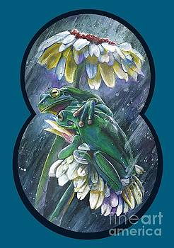 Frogs- optimized for shirts and bags by Michael Volpicelli