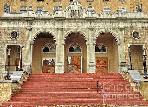 Front Entrance to Old Baker Hotel by Janette Boyd