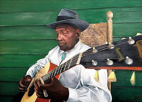 Front Porch Blues          portrait of John Jackson by Kerry Burch