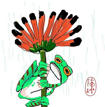 Frowning Frog  by Debbi Chan