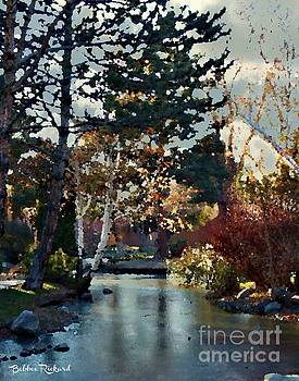 Frozen Creek II Painting by Bobbee Rickard