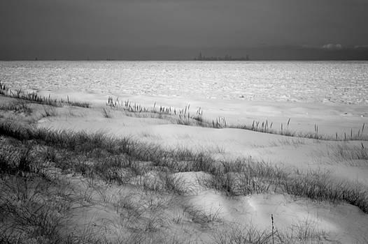 Frozen Lake Michigan by Steve Johnson