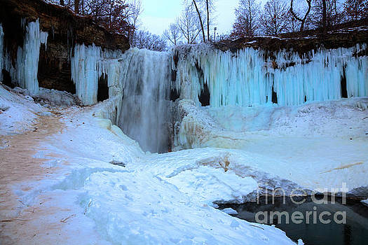 Frozen Minnehaha Falls Minneapolis II by Wayne Moran