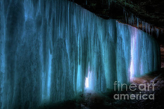 Frozen Minnehaha Falls Minneapolis III by Wayne Moran