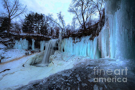 Frozen Minnehaha Falls Minneapolis IV by Wayne Moran