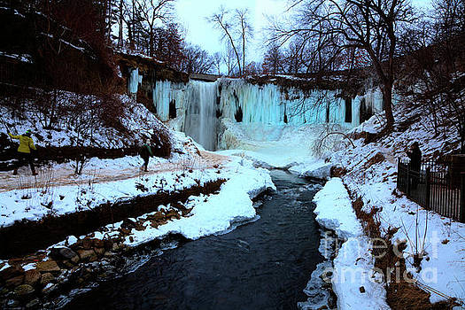 Frozen Minnehaha Falls Minneapolis  by Wayne Moran