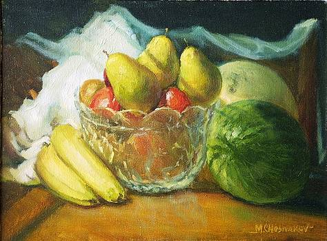 Fruits On a Table by Michael Chesnakov