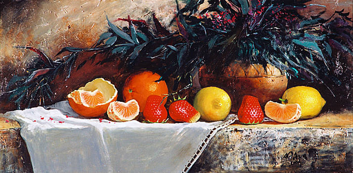 Fruits with Bush by Alim Adilov