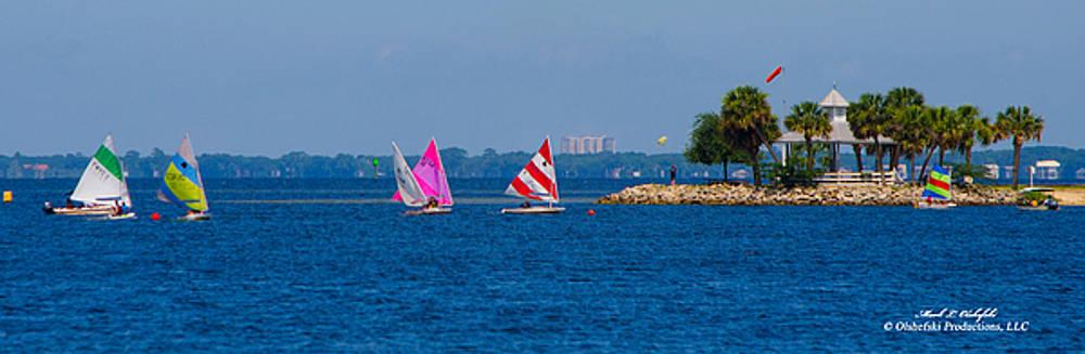 Ft Walton Beach Sail Boating by Mark Olshefski