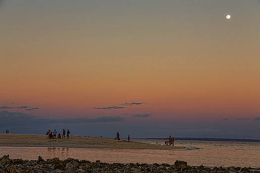 James BO Insogna - Full Moon Beach Watching At Sunset